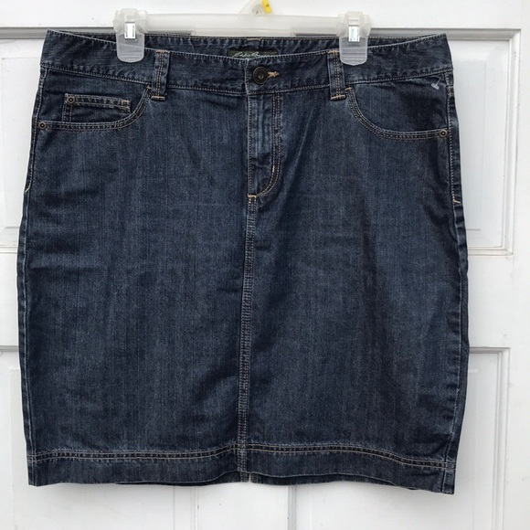 Eddie Bauer Dresses & Skirts - Eddie Bauer Denim Blue Jean Pencil Skirt 14 Jeans
